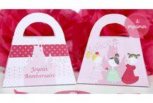 Décoration table anniversaire Princesse / Sweet table et décoration de table de fête ou goûter d'anniversaire sur le thème des princesses. Printable, imprimable, déco à imprimer