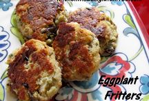 Eggplant Fritters / Kitchen Wisdom Gluten Free Eggplant Fritters Recipe http://kitchenwisdomglutenfree.com/2014/04/12/eggplant-fritters-gluten-free-forget-what-you-know-about-wheatc-2014/