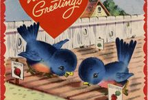 bluebirds ♥ (I miss you Dad..more every day) / Once I asked God to give me a sign that my Dad was still with me then I asked for that sign to be a bluebird...that night I fell asleep watching tv and awoke to a tv screen filled with bluebirds... / by Stephanie Buckingham