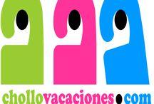 Logo Chollovacaciones / Logo de chollovacaciones, tu web de referencia cuando busques chollos y ofertas para viajar.