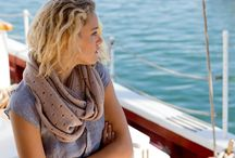 Brand New Swans Island products / Brand new at the Swans Island studio: including handwoven, hand-dyed and trimmed in silk organic merino wraps and scarves, and our luxurious knit cowls.