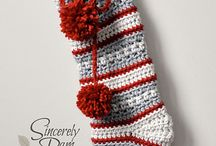 Crochet christmas stockings inspiration
