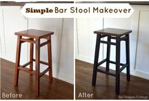 barstool makeovers / ways to bring barstools to life / by Gina @ Shabby Creek Cottage
