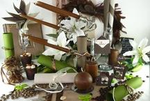 Thème vert forêt et chocolat  / Avec ce thème élégant et sobre, cassez la dureté du chocolat en faisant germer des pointes de nature verte ! Rendez-vous compte par vous-même, le mariage entre les deux est parfait !