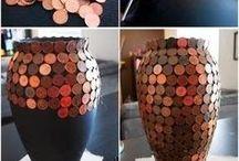 Creatief vaas met munten