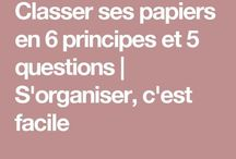 organisation papiers