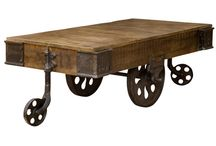 Industrial furniture / Iron and wooden fusion to create marvellous pieces of industrial furniture