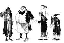 personaggi & illustrazioni / collezione di studi per creazione di personaggi o lllustrazioni di personaggi caratteristici, significative o  divertenti.