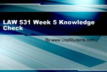 LAW 531 Week 5 Knowledge Check