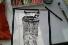 Paper-pencil-pastel hobby