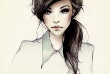 fashion and beauty illustrations