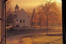 Drewniany kościółek