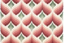 Bargello patterns / Florentine tapestry