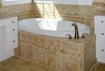 bathroom tile ideas / by Sandy Huot