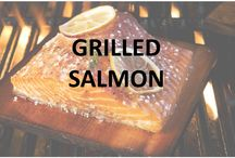 Grilled Salmon / Salmon is a great fish no matter how it is cooked. Plank grilled salmon is the best choice, however, as it is full of flavor.