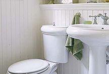 Bathrooms / Design, toilets , sinks , bradboard