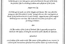 Higher Power / Lists of Gods and Goddesses