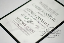 New Year's Eve Wedding Invitations / New Years Eve themed wedding invitations / by Gourmet Invitations