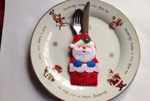 Christmas cutlery holders / Add a little fun to the festive season.
