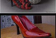 Topánka-pletená z papiera