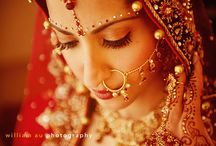 Beautiful Hindu Brides ❤ / Hindu brides may wear traditional lenghas and saris but they come in many colors and styles.  From the modern Hindu bride in fusion outfits to the classic bride in Kangivaram silk sari.