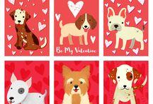 Valentine's Day Printables at ValetineCorner.com / Printables for Valentine's Day including cards for kids.