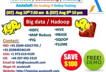 Get $100 off on Big Data/ HADOOP Online free demo from Acutesoft.