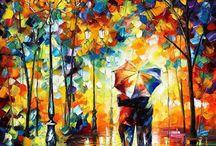 caminhando na chuva