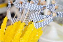 Grey, Yellow and Aqua Sunshine Party