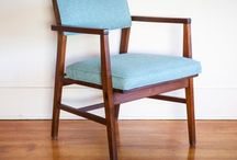 Chair make over / Reupholstering  / by James Moore