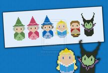 bordado personagens