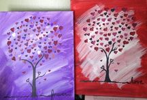 Valentines Painting On Canvas