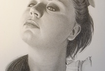 Art / My Art - Portraits - Black and White - Drawings - Paintings
