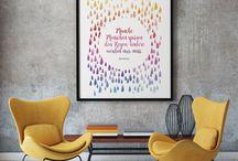 Prints / Auf dieser Pinnwand befinden sich unsere Printartikel, wie z.B. Wandbilder, Poster, Post- und Grußkarten.