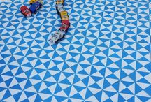 Geometric Encaustic Cement Tile