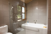Wet Room Showers / Walk-in showers with linear drains provide a clean modern look that is also accessible by wheelchair users.