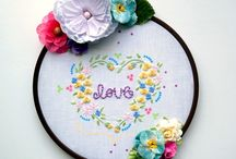 Embroidery + Cross Stitch / Embroidery and cross stitch projects. Turn your favorite stamps into stitching patterns with ColorBox Erasable Fabric Ink.