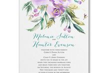 """Ultra Violet- 2018 Pantone Color of the Year / """"Inventive and imaginative, Ultra Violet lights the way to what is yet to come."""" All violet invitations are available at Persnickety Invitation Studio."""