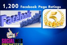 Facebook Page Ratings / The 5 star ratings on Facebook  help your business page to get likes and reviews.When you buy Facebook page ratings we promote your facebook business page.