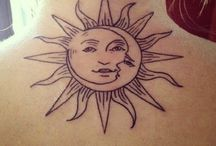 moon sun tatoo