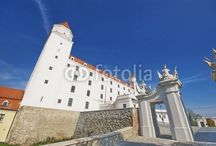 BRATISLAVA - SLOVAKIA / Some pictures of the Bratislava's castle and central area's shots
