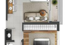 Grundrisse kleine Wohnung