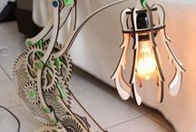 Wooden lamps and things