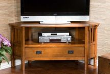 Corner tv stand / by Reclaimed Wood, Inc.
