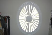 Arched Plantation Shutters / Interior shutters manufactured for any size or shape of window by The Louver Shop.