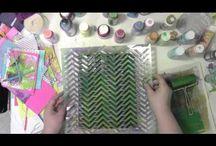 Card Making - Gelli Plate & Stencils