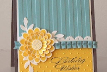 cards with embossing folder texture and design / by Carol Feige