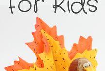 Efterårskreativitetbørnebørns sjov