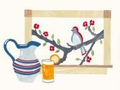 Health Topics - Birds / Rebekka Seale was commissioned to produce a series of hand-painted illustrations for the website Homecare.com. Homecare.com is an eldercare website that was created to help families take care of their aging loved ones.  The charming gouache and watercolor illustrations help viewers navigate the site and provide warmth and color.  / by Homecare.com