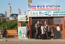 Crete Bus: Stations and Stops / Heraklion Bus Station A near Heraklion port serves destinations mostly along the North coast of Crete, East to Agios Nikolaos in Lasithi and West serving Rethimnon and Chania. Bus Station B (Chanioporta) in Heraklion town,  buses leave for the South in Heraklion prefecture towards Zaros, Mires and Matala, stopping in towns in between. Buses also leave towards Anogia, Gortys and Faistos.